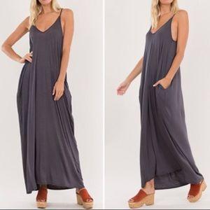 Dresses & Skirts - Charcoal Maxi Dress